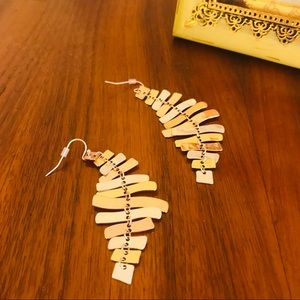 Women's chandelier type statement earrings.